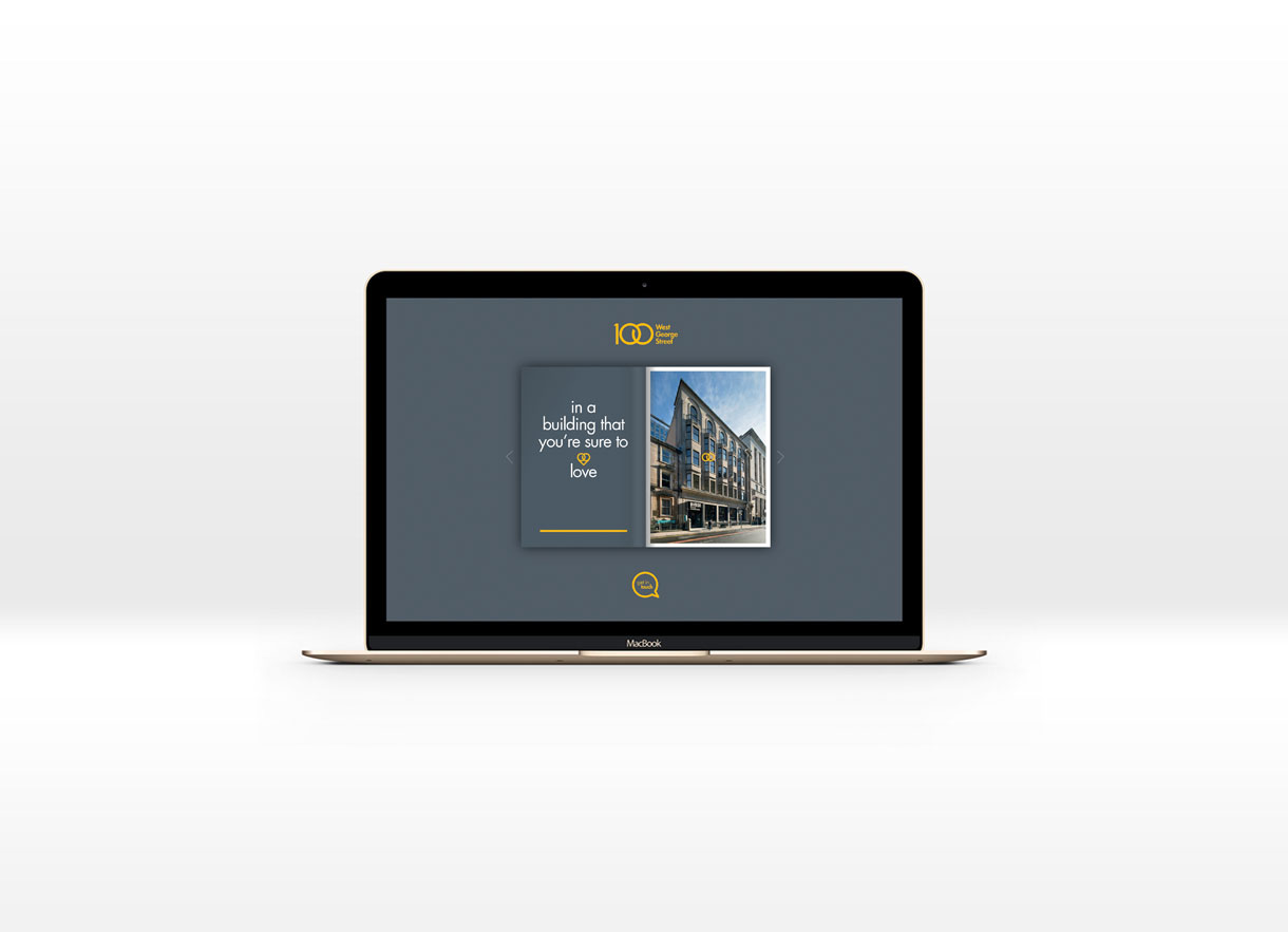 100 West George Street Website Design