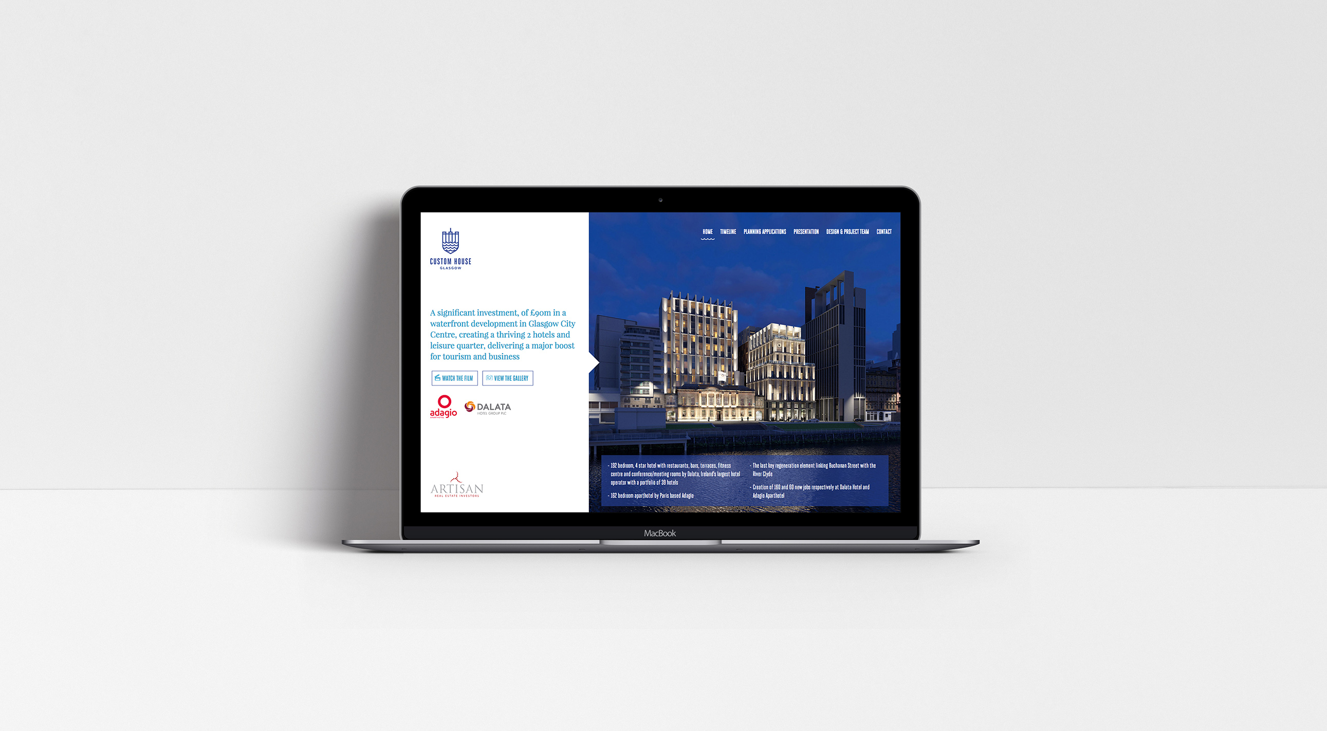 Custom House Website
