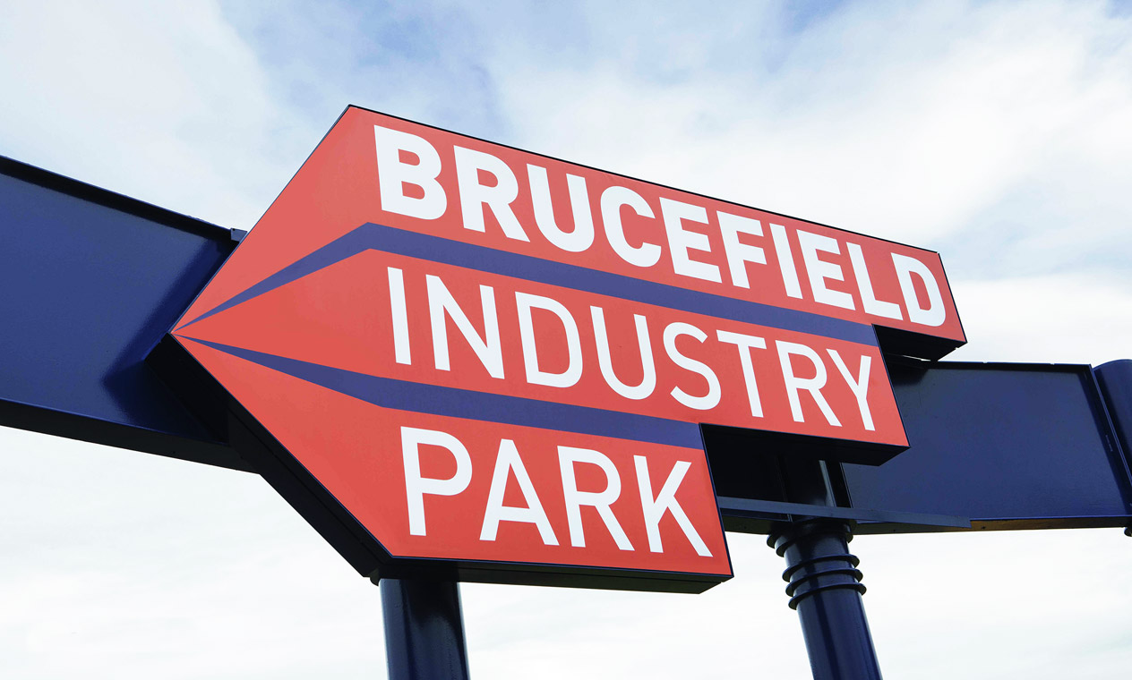 Brucefield main entrance sign